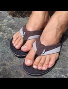 Ocean Surfari OS Mens Flip Flops Brown