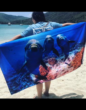 Dolphin Trio Towel
