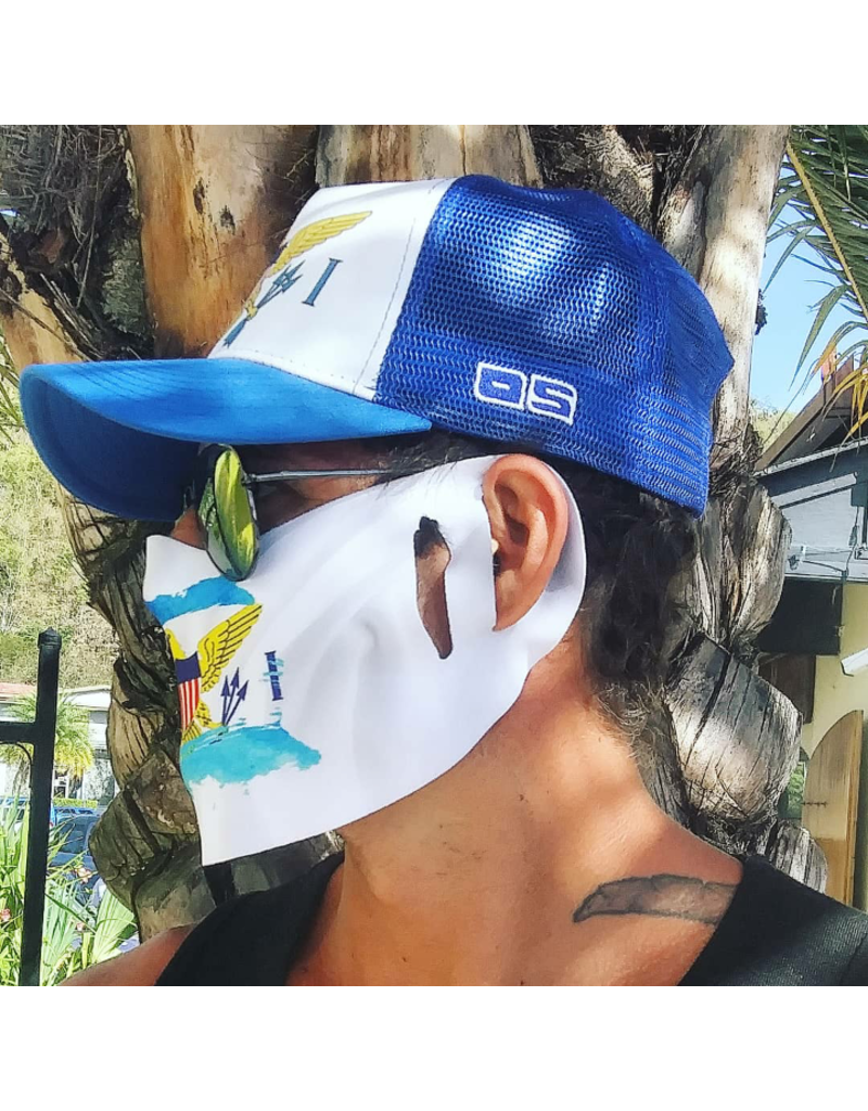 Ocean Surfari Washable VI Flag Face Cover