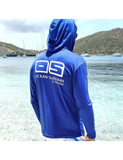 Ocean Surfari OS SPF 50+ Performance Men's Hoodie Royal