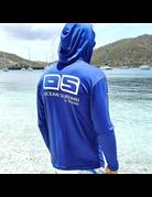 Ocean Surfari OS SPF 50+ Performance Men's Hoodie Royal