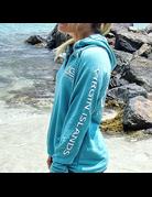 Ocean Surfari Lad Tunic Hoodie Aqua