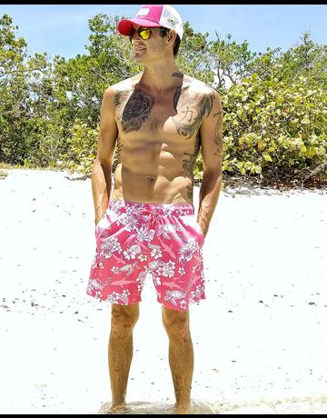 Ocean Surfari Men's Swim Short Tropic Seas Punch