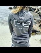 Ocean Surfari Lad Tunic Hoodie Charcoal