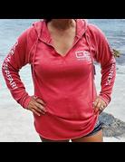 Ocean Surfari Lad Tunic Hoodie Red