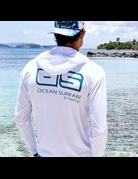 Ocean Surfari OS SPF 50+ Performance Men's Hoodie White