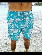 Ocean Surfari Men's Swim Short Tropic Seas Sea Green