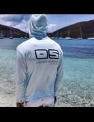 Ocean Surfari OS SPF 50+ Performance Men's Hoodie Ice Blue