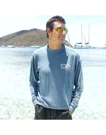 Ocean Surfari Hacci Fleece Crewneck Blue