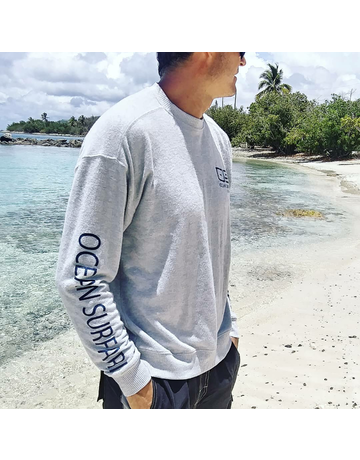 Ocean Surfari Hacci Fleece Crewneck Grey