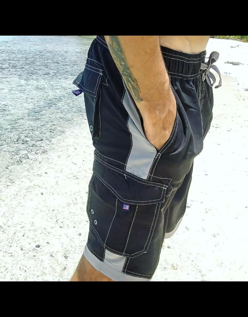 Ocean Surfari Men's Islander Short Black
