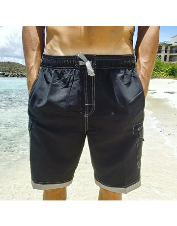 Ocean Surfari Men's Islander Short Black