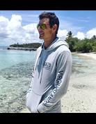 Ocean Surfari Hacci Fleece Hoodie Grey