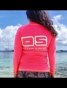 Ocean Surfari OS SPF 50+ Performance 1/4 Zip Lad Neon Pink