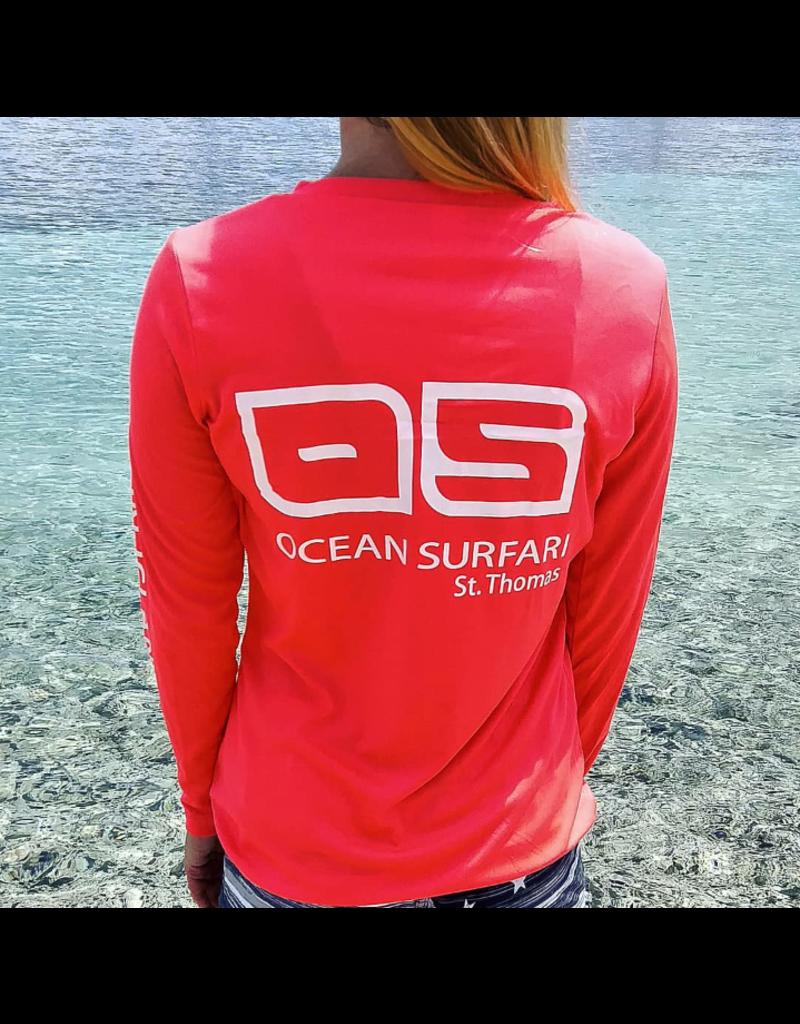Ocean Surfari OS SPF 50+ Performance Lad LS Coral