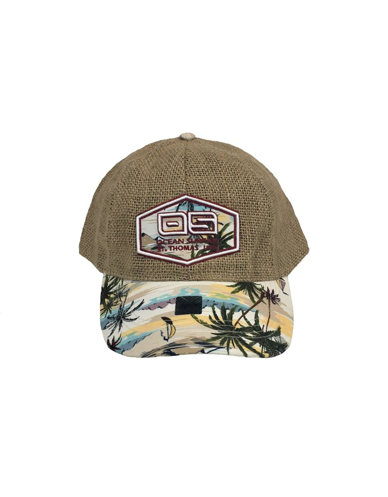 Ocean Surfari OS Jute Hat Palms
