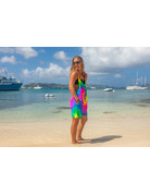 Ocean Surfari Tie Dye Romper Flo Rainbow