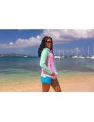 Ocean Surfari Tie Dye Hooded Sweatshirt Seafoam/Aqua/Pink