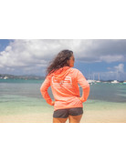 For Your Image O/S LW Burnout Hoodie Neon Orange