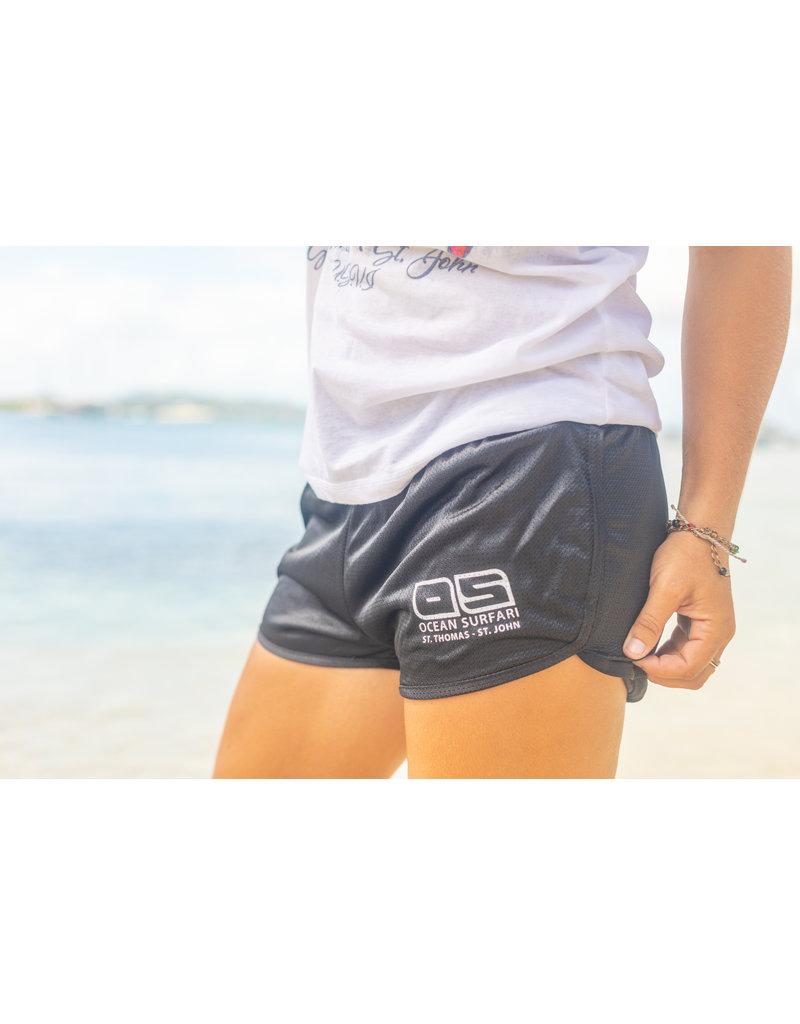 Ocean Surfari O/S Running Short Black
