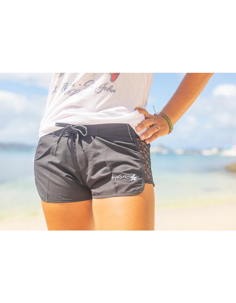 Raya Sun RS Open Side Lace Short BLACK