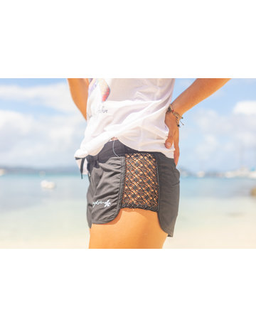 Raya Sun RS Open Side Lace Short BLACK