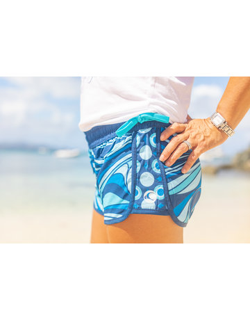 WL Side Tie Short Aqua