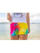 Ocean Surfari O/S Tie-Dye Shorts Rainbow Swirl