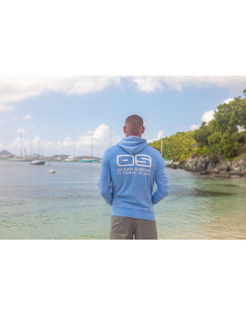 Ocean Surfari F/Z Burnout Hoodie Summer Blue