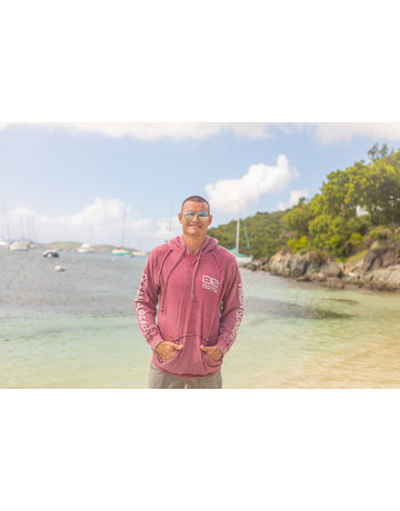 Ocean Surfari Burnout P/O Hoodie Wine
