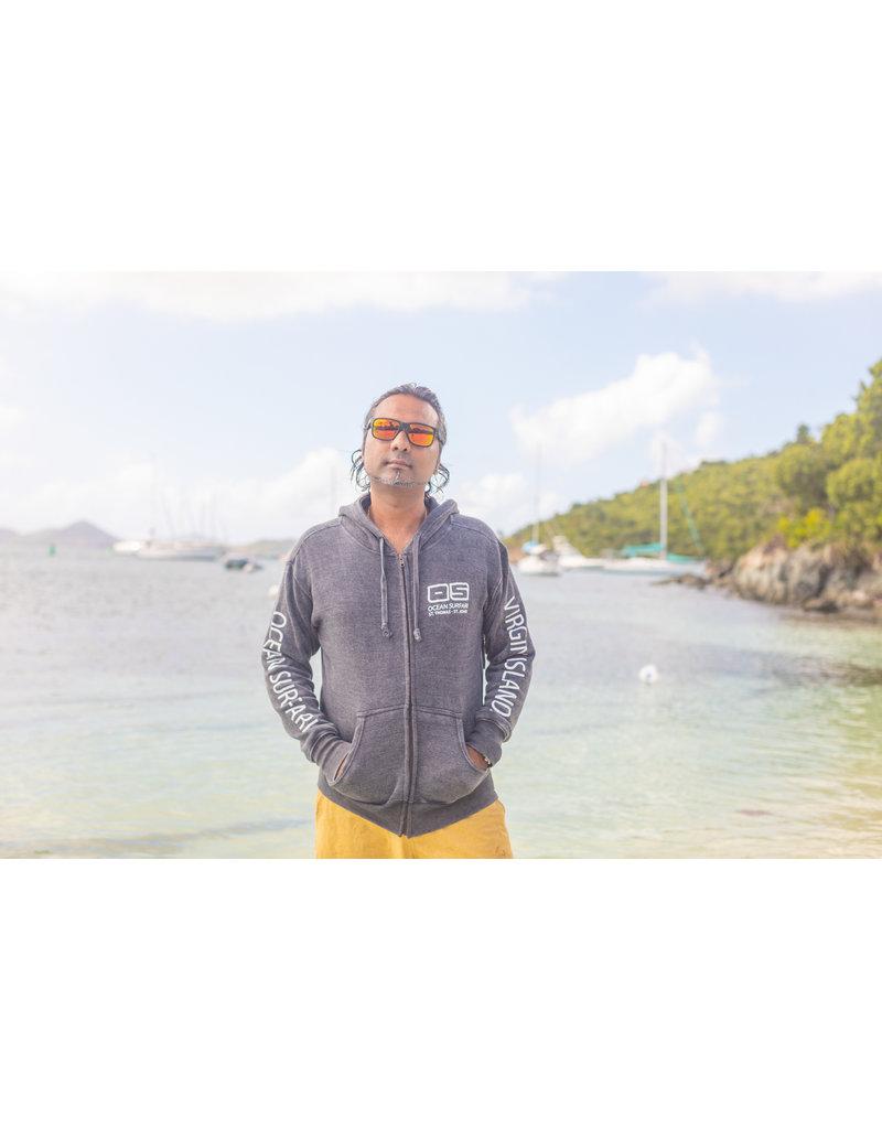 Ocean Surfari F/Z Burnout Hoodie Charcoal