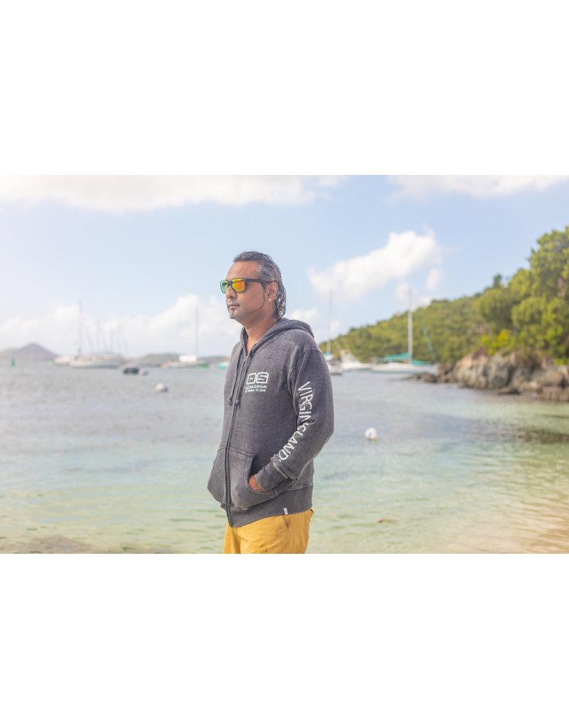 Ocean Surfari F/Z Burnout Hoodie Charoal