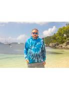 Ocean Surfari O/S Unisex Tie-Dye P/O Hoodie Blue