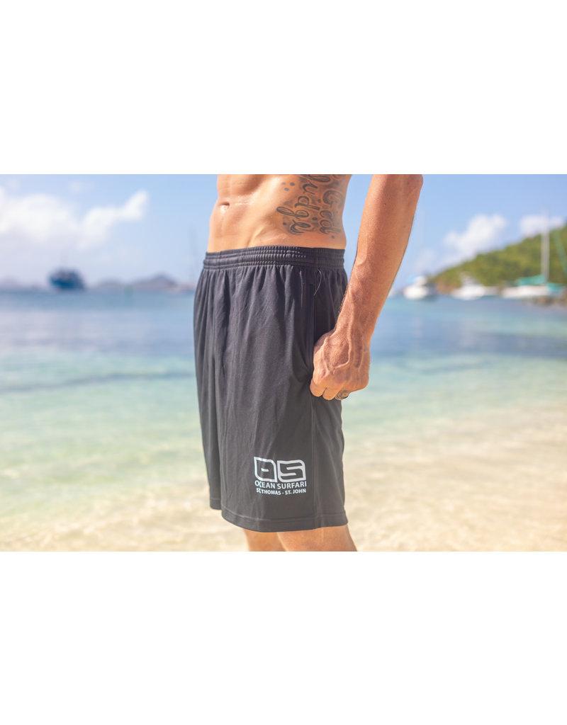"Ocean Surfari Men's Extreme Performance Shorts 11"" Black"
