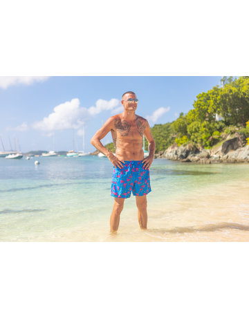 Uzzi Uzzi Swim Trunk Royal Flamingo