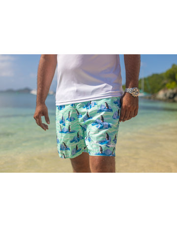 Uzzi Uzzi Swim Trunk Jade Penguins