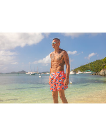 Uzzi Uzzi Swim Trunk Coral Penguins