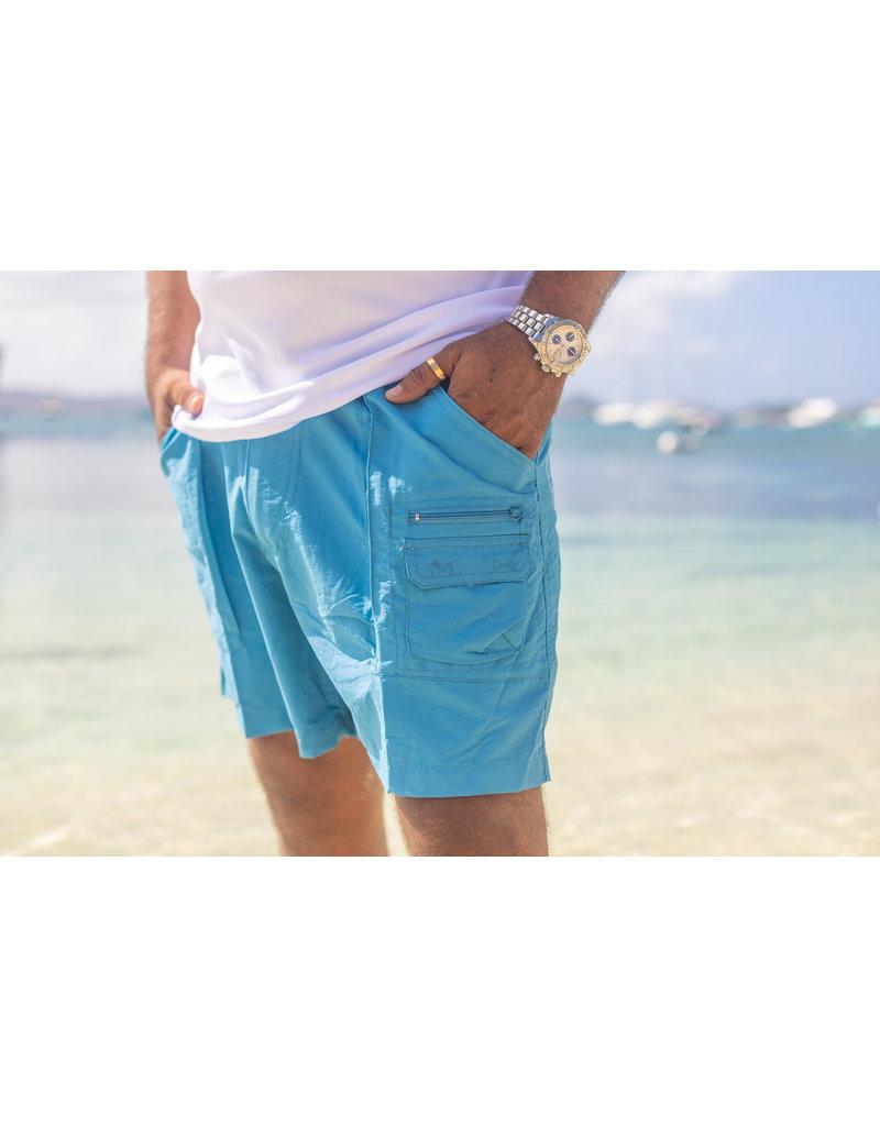 Ocean Surfari Uzzi Nylon Walking Short Light Blue