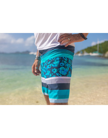 RS Surf RS Surf Board Short Grey/Aqua/BLU