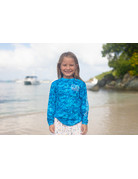 Ocean Surfari OS SPF 50+ Performance Youth LS Digi Camo Blue