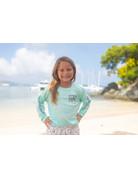 Ocean Surfari OS SPF 50+ Performance Youth LS Seafoam