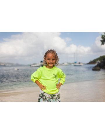 Ocean Surfari OS SPF 50+ Performance Youth LS Neon Yellow