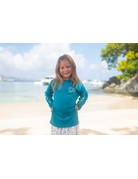 Ocean Surfari OS SPF 50+ Performance Youth LS Teal