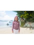 Ocean Surfari OS SPF 50+ Performance Youth Hoodie Heather Maroon