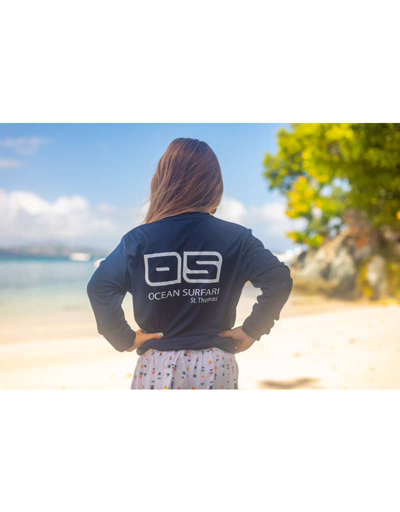 Ocean Surfari OS SPF 50+ Performance Youth LS Navy