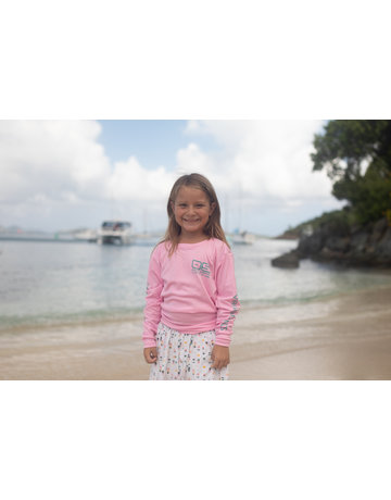 Ocean Surfari OS SPF 50+ Performance Youth LS Lt Pink