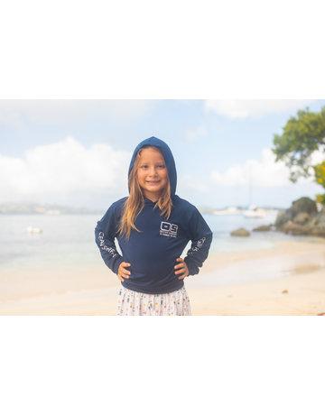Ocean Surfari OS SPF 50+ Performance Youth Hoodie Navy