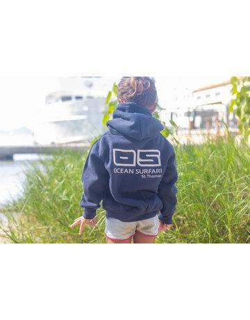 Ocean Surfari Toddler Full Zip Hoodie Navy