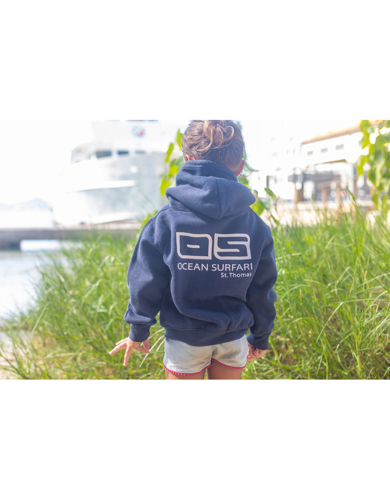 Ocean Surfari Toddler Full Zip Hoodie Navy