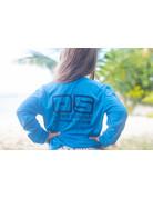 Ocean Surfari OS SPF 50+ Performance Youth LS Col Blue